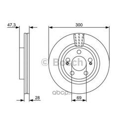Тормозной диск (Bosch) 0986479537