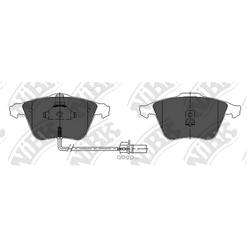 Колодки тормозные дисковые с датчиком износа (NiBK) PN0335W