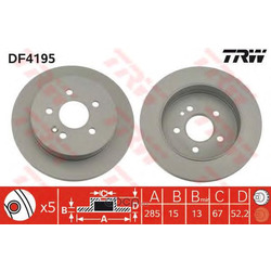 Тормозной диск (TRW/Lucas) DF4195
