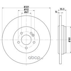 Тормозной диск (Hella) 8DD355107241