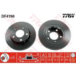 Тормозной диск (TRW/Lucas) DF4196