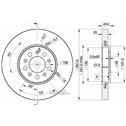 Тормозной диск (Icer) 78BD5604