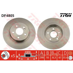 Диск тормозной (TRW/Lucas) DF4805