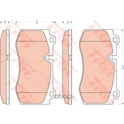 Колодки тормозные передние (TRW/Lucas) GDB1733