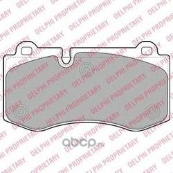 Комплект тормозных колодок, дисковый тормоз (Delphi) LP1980