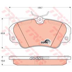 """Колодки тормозные дисковые, комплект """"COTEC (TRW/Lucas) GDB957"""