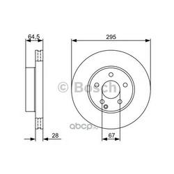Тормозной диск (Bosch) 0986479407