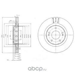 Тормозной диск (Delphi) BG4038