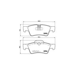 Комплект тормозных колодок, дисковый тормоз (Brembo) P50064