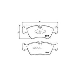 Комплект тормозных колодок, дисковый тормоз (Brembo) P06035