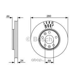 Тормозной диск (Bosch) 0986479553