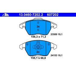 Комплект тормозных колодок, дисковый тормоз (Ate) 13046072022