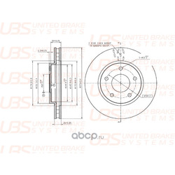 Диск тормозной, передний (UBS) BP2107004