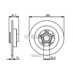 Диск тормозной (Bosch) 0986479446