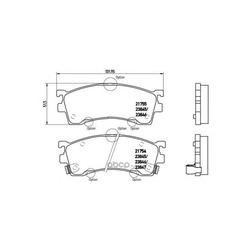 Комплект тормозных колодок, дисковый тормоз (Brembo) P49023