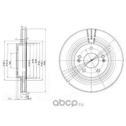 Диск тормозной (Delphi) BG3860
