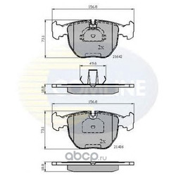 Колодки дисковые (Comline) CBP01096