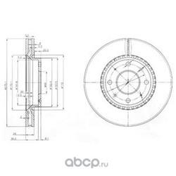 Тормозной диск (Delphi) BG4016
