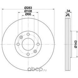 Диск тормозной TEXTAR (Textar) 92111603