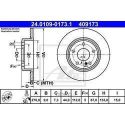 Тормозной диск (Ate) 24010901731