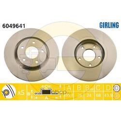 Тормозной диск (Girling) 6049641