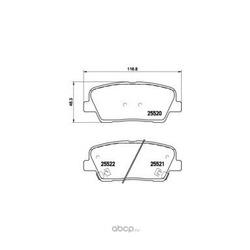 Комплект тормозных колодок (Brembo) P30063