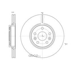 Тормозной диск (Remsa) 6147710