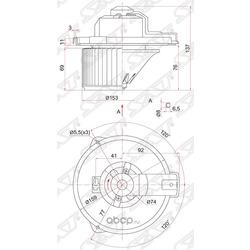 Мотор отопителя салона (Sat) ST8710333041
