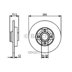 Диск тормозной (Bosch) 0986479383