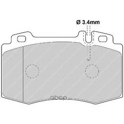 """Колодки тормозные дисковые передние, комплект """"Premier (Ferodo) FDB1661"""