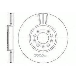 Тормозной диск (Remsa) 654410