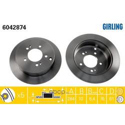 Тормозной диск (Girling) 6042874