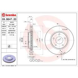 Тормозной диск (Brembo) 09B64720