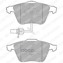 Колодки тормозные, комплект, передние (Delphi) LP1825
