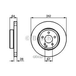 Тормозной диск (Bosch) 0986479040