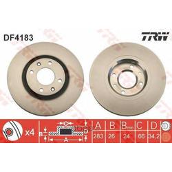 Диск тормозной вентилируемый (TRW/Lucas) DF4183