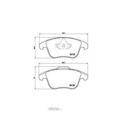 Колодки тормозные дисковые, комплект (Brembo) P44020