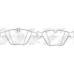 Колодки тормозные дисковые (NiBK) PN0222
