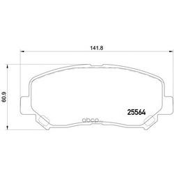 Колодки тормозные дисковые TEXTAR (Textar) 2556401
