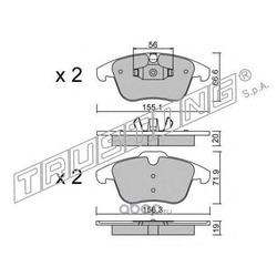 Комплект тормозных колодок, дисковый тормоз (Trusting) 6910