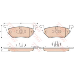 Комплект тормозных колодок, дисковый тормоз (TRW/Lucas) GDB1754