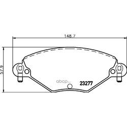 Комплект тормозных колодок, дисковый тормоз (Hella) 8DB355019411