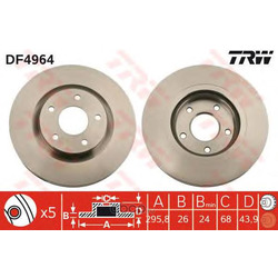 Диск тормозной вентилируемый (TRW/Lucas) DF4964