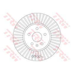 Тормозной диск (TRW/Lucas) DF6629