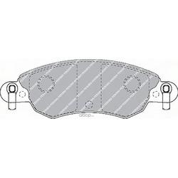 Комплект тормозных колодок, дисковый тормоз (Ferodo) FDB1410