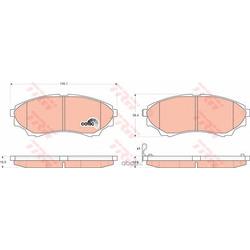 Колодки тормозные передние (TRW/Lucas) GDB3403