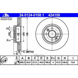 Тормозной диск (Ate) 24012401581