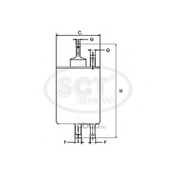 Топливный фильтр (SCT) ST6098