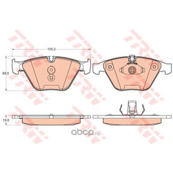 Колодки тормозные передние (TRW/Lucas) GDB2021