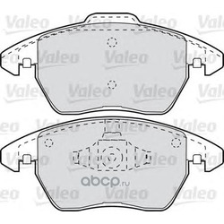 Комплект тормозных колодок, дисковый тормоз (Valeo) 598715